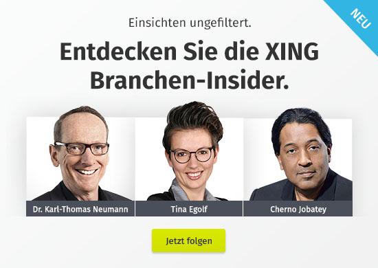 Entdecken Sie die neuen XING Branchen-Insider