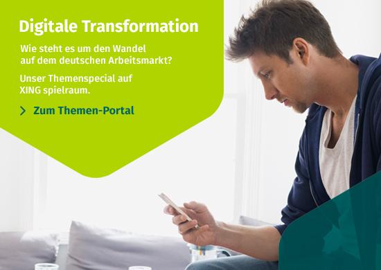 Digitale Transformation - Diesen Monat auf XING spielraum
